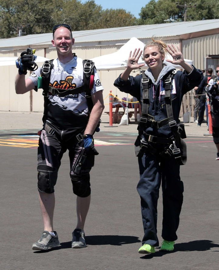 AnnaLynne McCord Skydives from 18 000 feet at Charity Event -66
