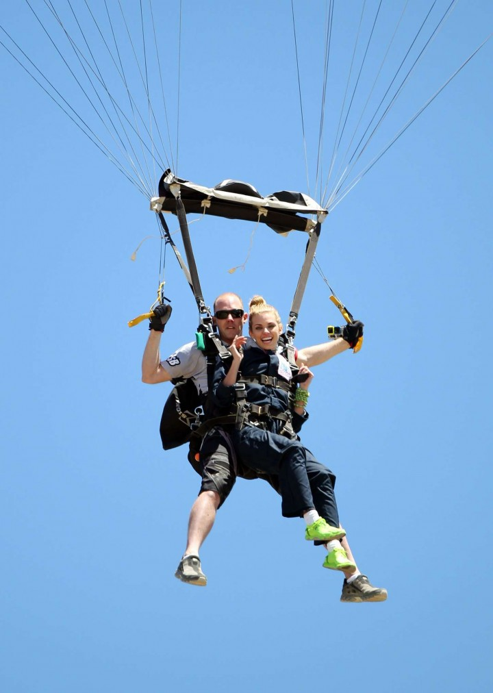 AnnaLynne McCord Skydives from 18 000 feet at Charity Event -71