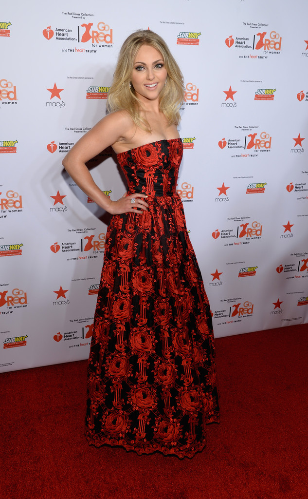 AnnaSophia Robb: 2014 Red Dress Fashion Show -15