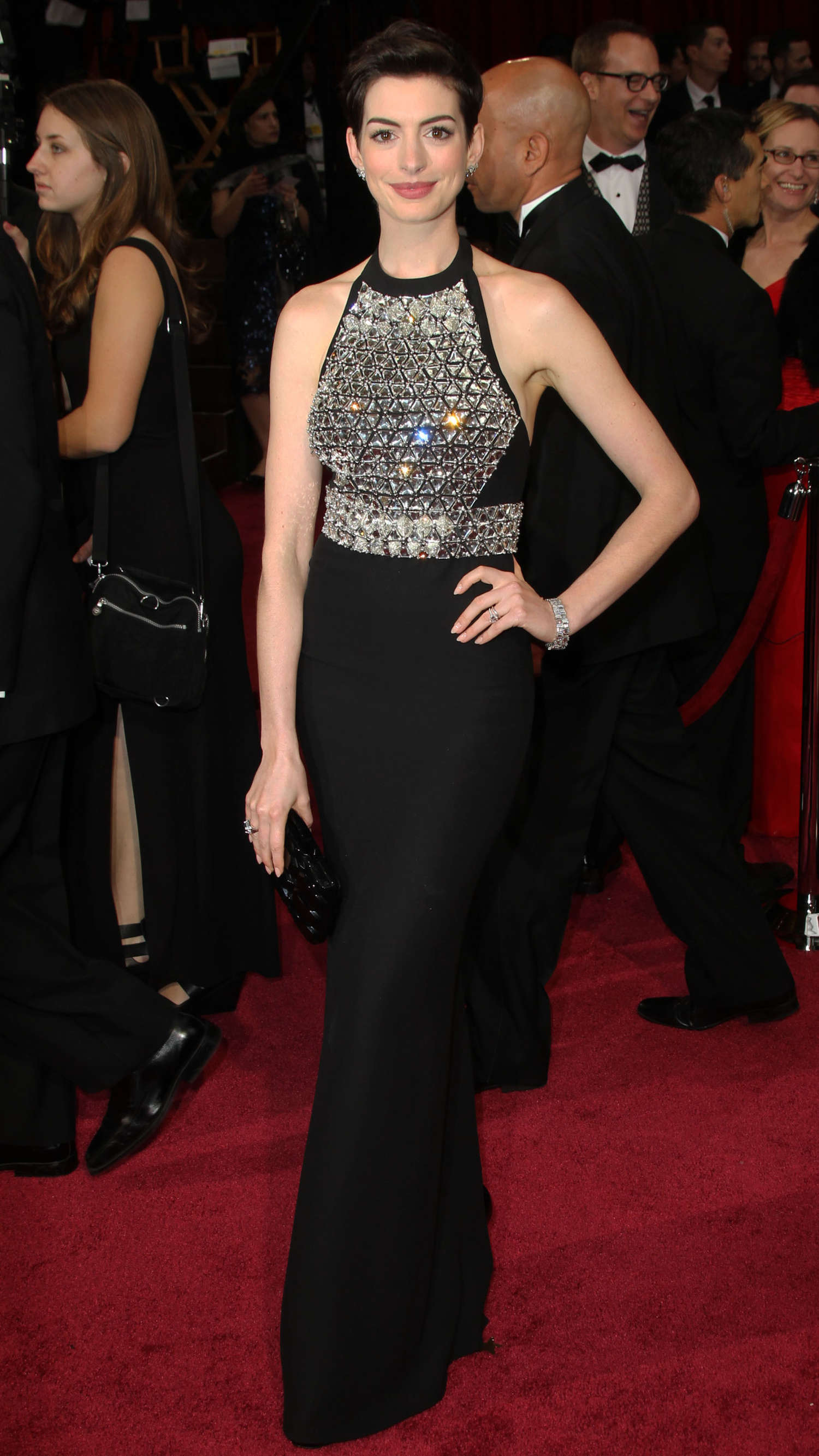 Anne Hathaway - 2013 BAFTA Awards in London-01 - GotCeleb