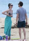 Anne Hathaway Bikini in Hawaii -02