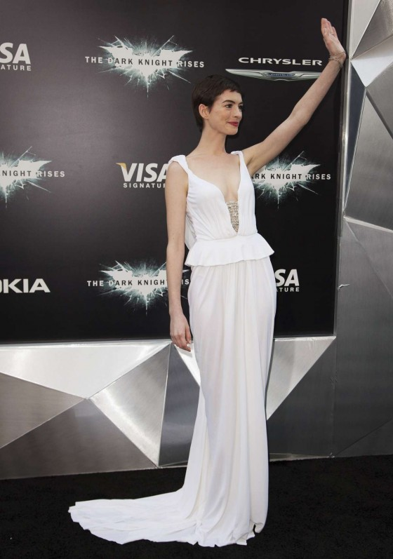 Anne Hathaway - Catwoman in a long dress at Dark Knight Rises Premiere in NYC