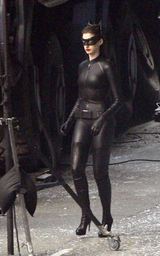 Anne Hathaway – CATWOMAN on set of The Dark Knight Rises – Sept 24
