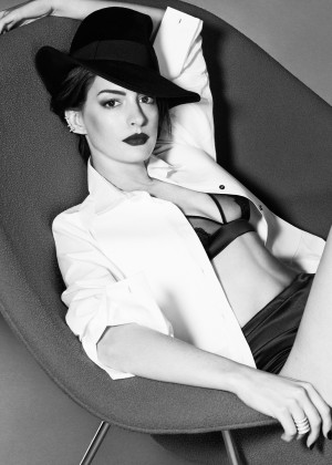 Anne Hathaway for Elle UK Magazine (November 2014) adds