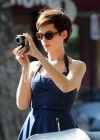 Anne Hathaway out in NY -12
