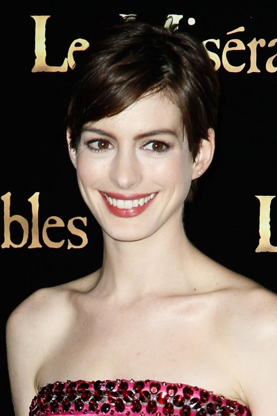Anne Hathaway at Les Miserables premiere in Paris-12