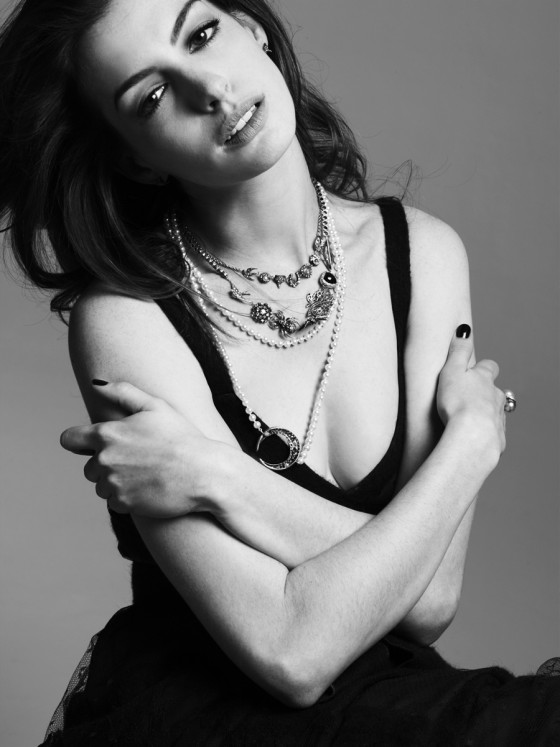 Anne Hathaway - Mark Abrahams B&W Photoshoot