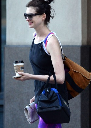 Anne Hathaway - Out and about in Brooklyn