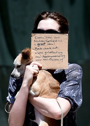 Anne Hathaway walking her two dogs in Brooklyn-18