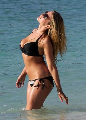 April Summers Black Bikini Photos: 2014 in Barbados -10