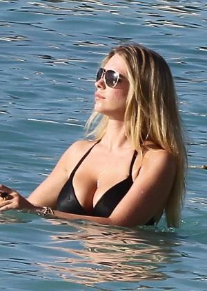 April Summers Black Bikini Photos: 2014 in Barbados -14