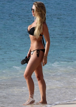 April Summers Black Bikini Photos: 2014 in Barbados -18