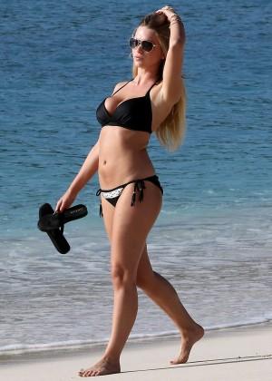 April Summers Black Bikini Photos: 2014 in Barbados -26