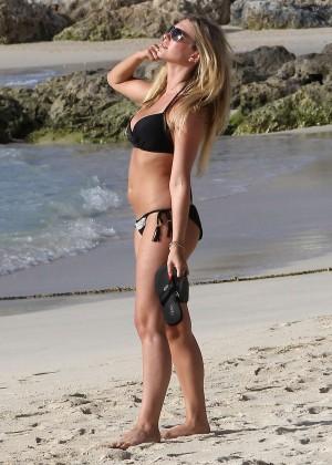 April Summers Black Bikini Photos: 2014 in Barbados -31