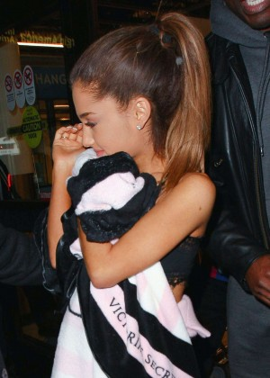 Ariana Grande at LAX Airport in Los Angeles