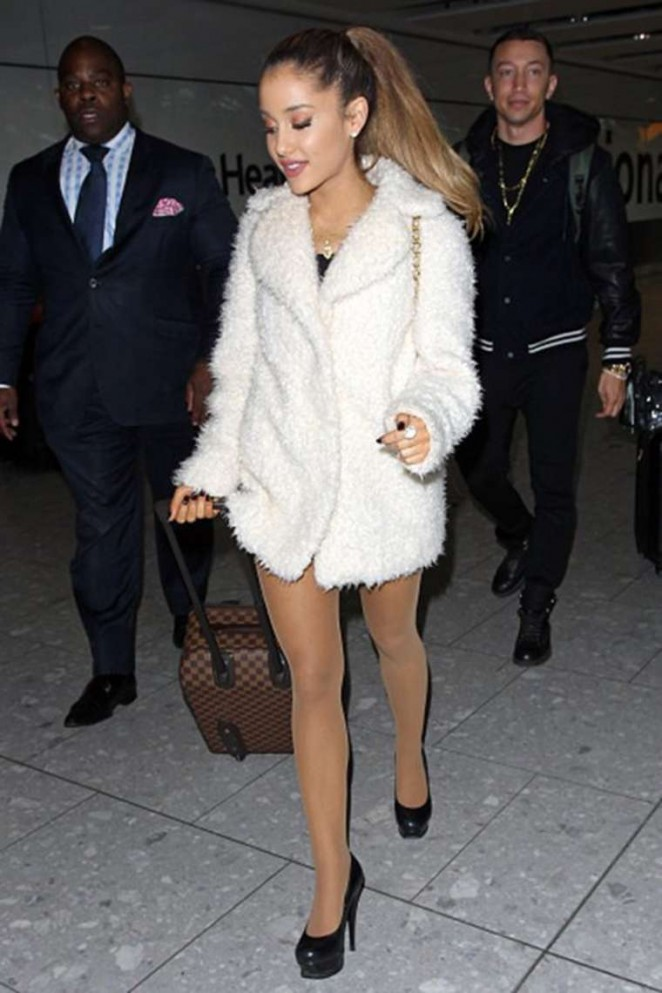 Ariana Grande at Heathrow Airport in London