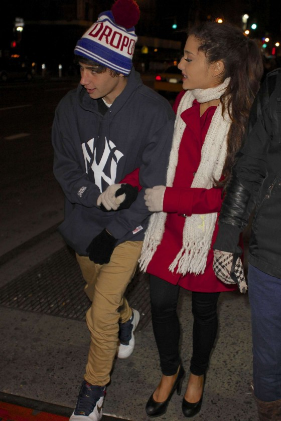 Ariana Grande - out on a date in NYC