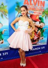 Ariana Grande cleavage at Alvin And The Chipmunks DVD Release Concert
