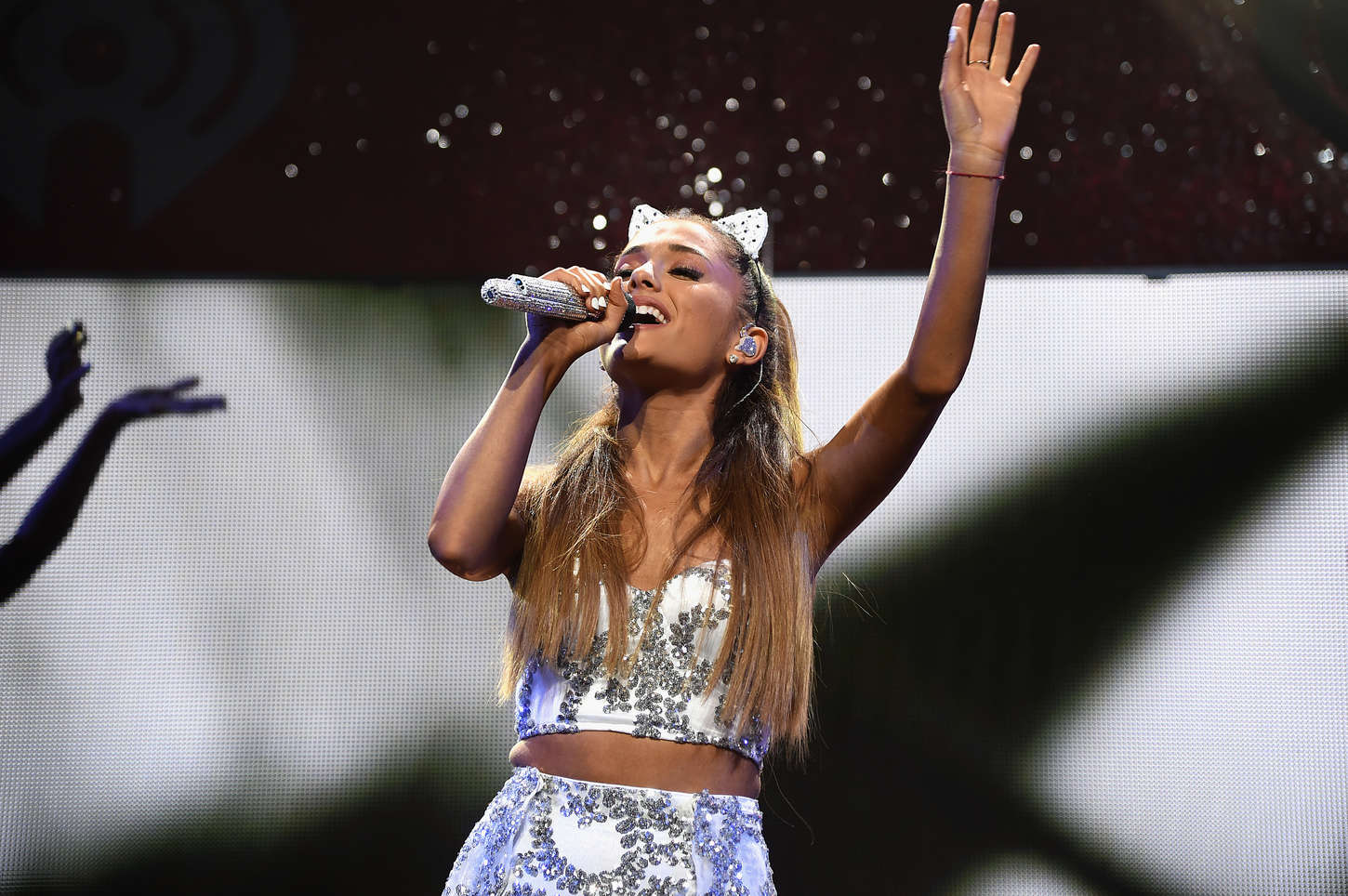 Ariana Grande performs onstage during HOT 99.5 s Jingle