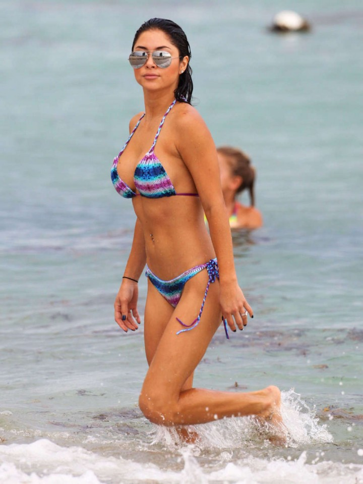 Arianny Celeste Wearing Bikini in Miami