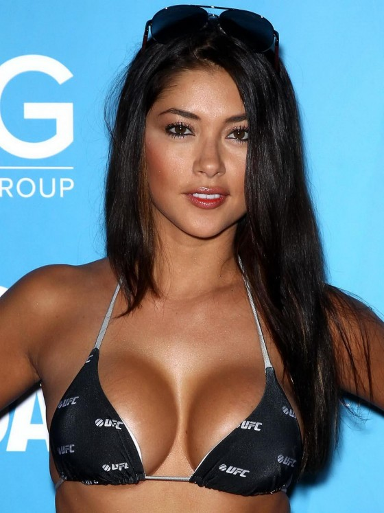 Arianny Celeste - Wear Bikini top at 2012 UFC Fight Week party in Las Vegas