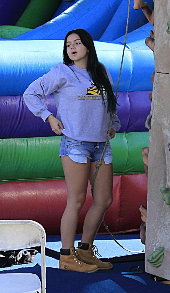Ariel Winter in Jeans Shorts at Farmer's Market in LA