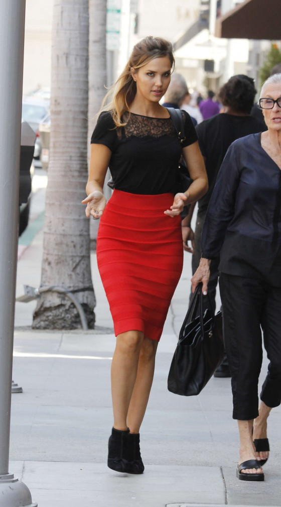 Arielle Kebbel out in Beverly Hills -07