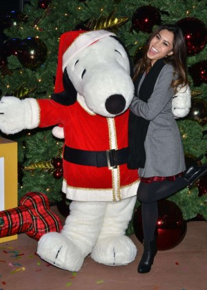 Ashley Argota - Knott's Merry Farm Holiday Tree Lighting in Buena Park
