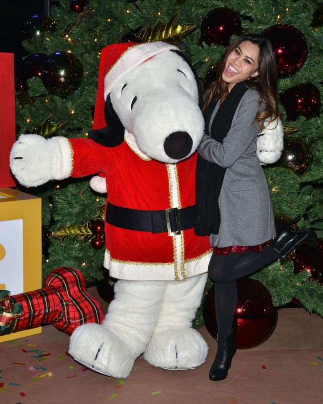 Ashley Argota - Knott's Merry Farm Holiday Tree Lighting in Buena Park