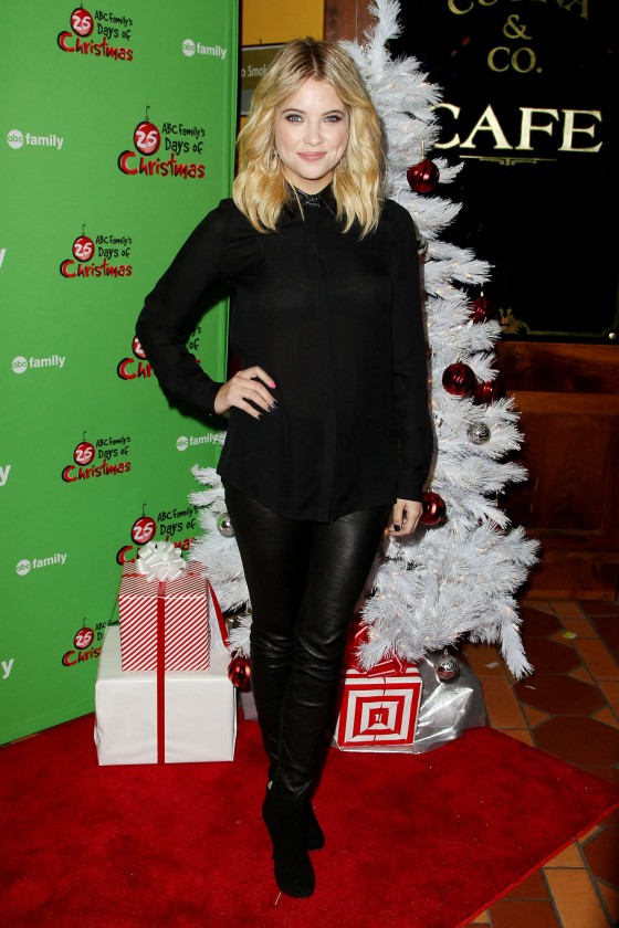 Ashley Benson at 2012 ABC Family 25 Days of Christmas Winter Wonderland Event