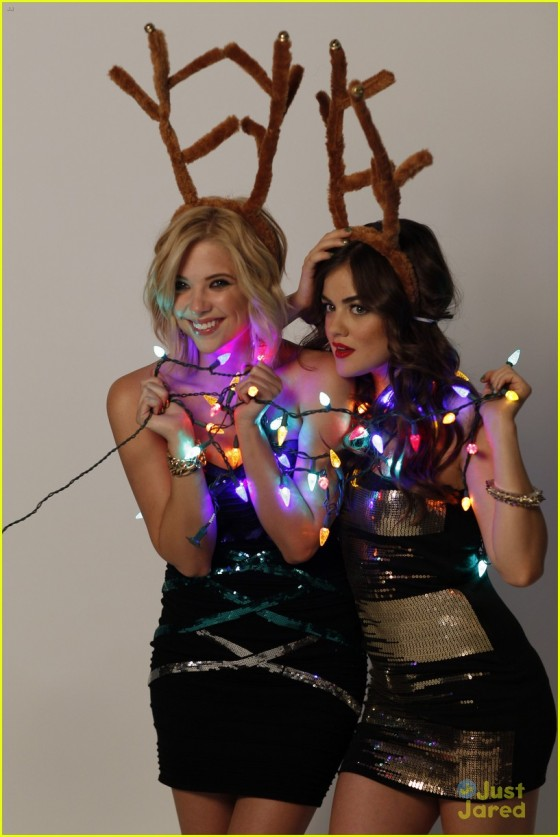 Ashley Benson and Lucy Hale in Bongo Holiday Photoshoot 2013