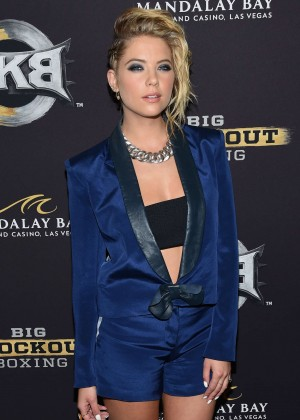 Ashley Benson - Big Knockout Boxing Inaugural Event in Vegas