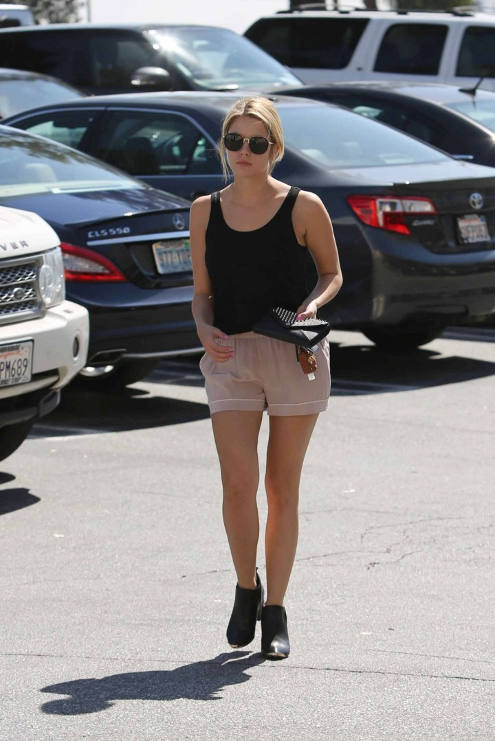Ashley Benson in tank top and shorts -08