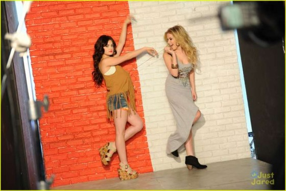 Ashley Benson and Lucy Hale – Bongo Jeans Ads -14