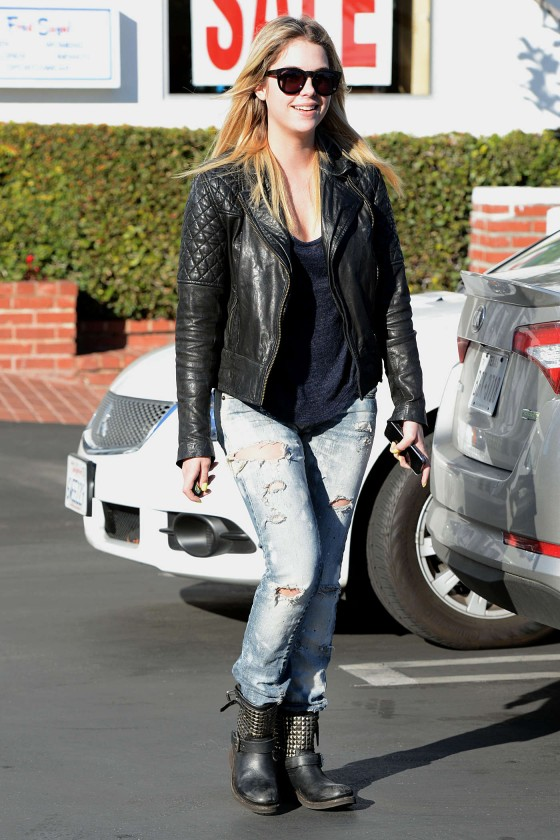Ashley Benson Out in Ripped Jeans in Los Angeles
