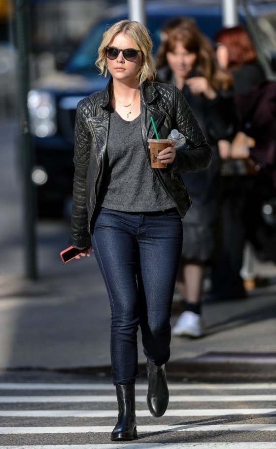 Ashley Benson - Tight Jeans Candids - NYC