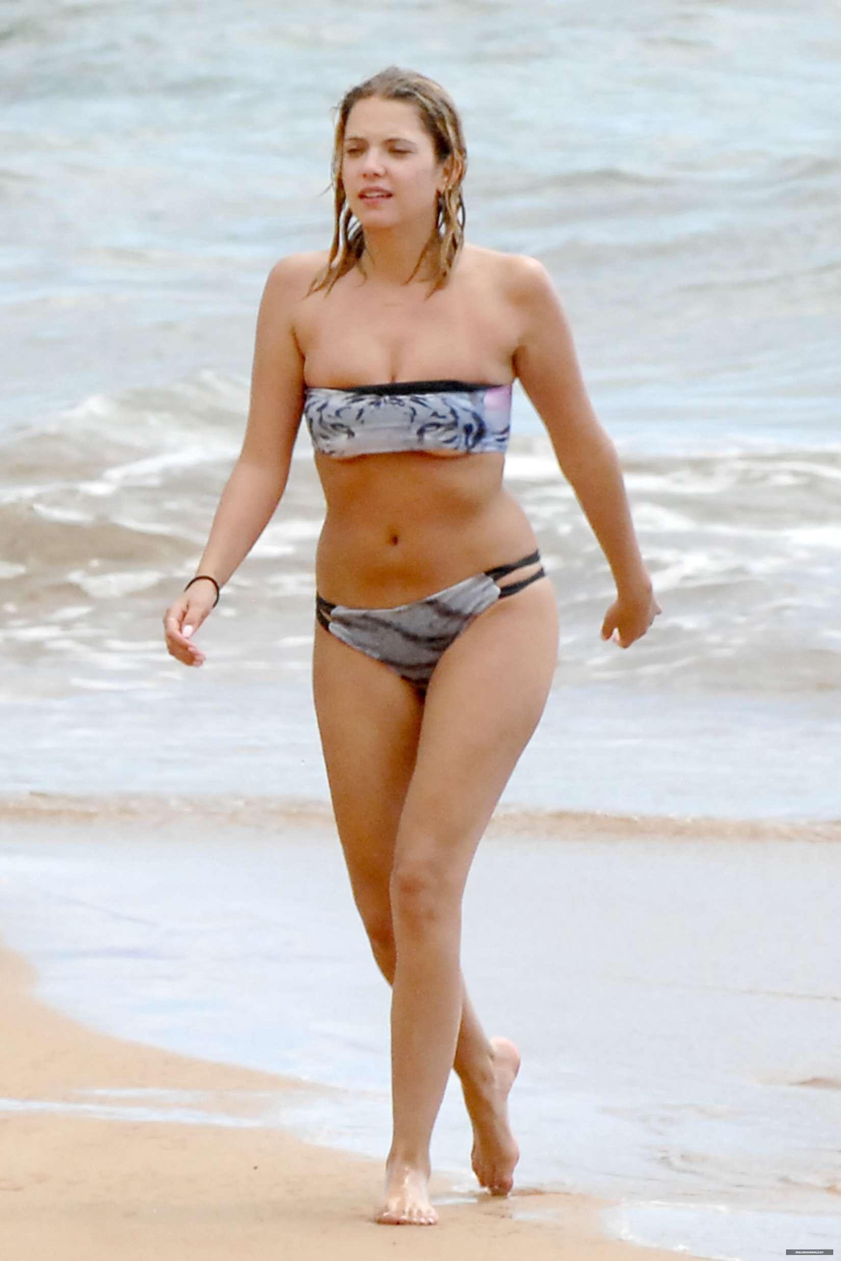Ashley Benson Wearing A Bikini At A Beach In Hawaii Gotceleb