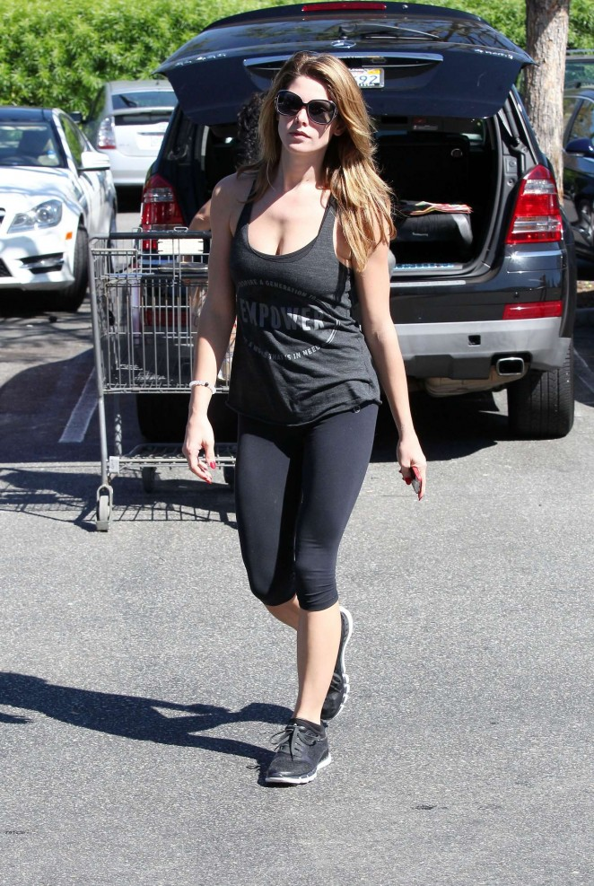 Ashley Greene in Leggings at a gym in LA