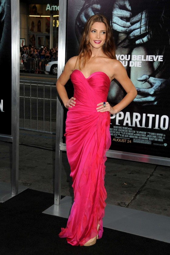 Ashley Greene cleavage candids at The Apparition Premiere