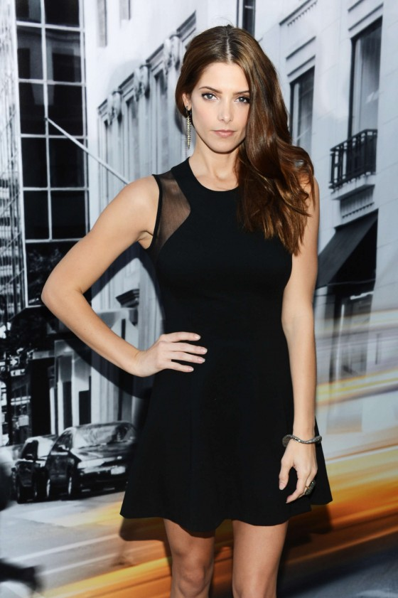 Ashley Greene in small dress at DKNY fashion show