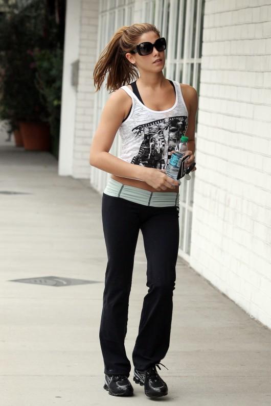 Ashley Greene Gym Candids In West Hollywood