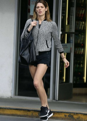 Ashley Greene Leggy in Shorts out in Studio City
