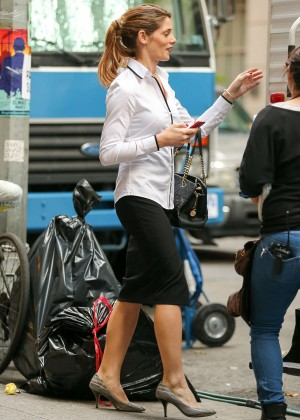 Ashley Greene on the set of her new project 'Urge' in NYC