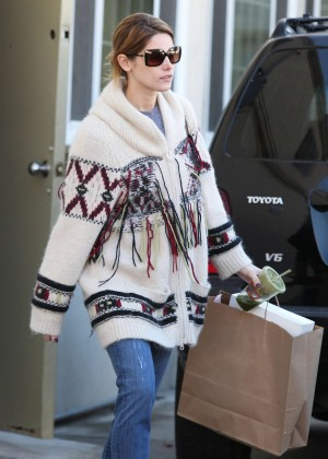 Ashley Greene in Jeans and Sweaters Out in LA