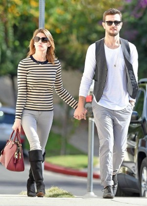 Ashley Greene with her boyfriend Paul Khoury out in Studio City
