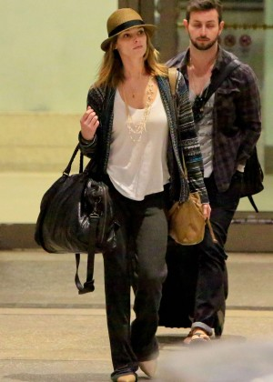 Ashley Greene with boyfriend Paul Khoury Arrives at LAX in LA