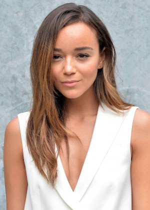 Ashley Madekwe - Emporio Armani Fashio Show 2014 in Milan