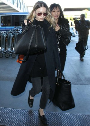 Ashley Olsen Arriving at LAX Airport in LA