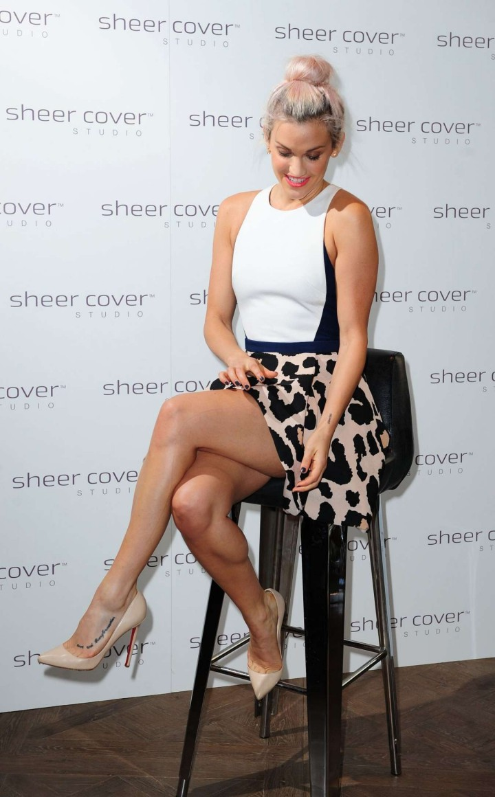 Ashley Roberts at Sheer Cover Studio Event in London