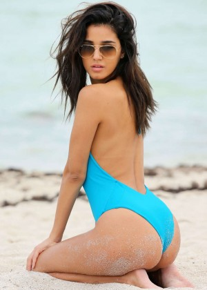 Ashley Sky Swimsuit Photos: Miami Beach -11